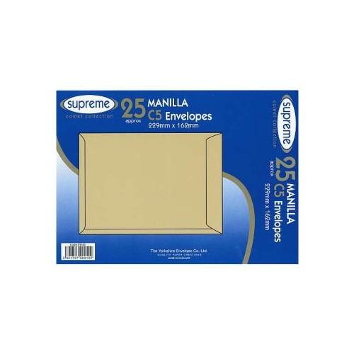 Envelopes C5 Man Gummed Pk25