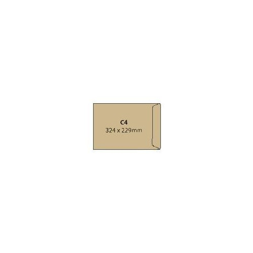Envelopes C4 Man Gummed Pk25