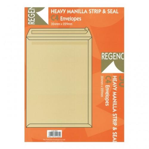 Envelopes C4 Man Peel Seal 115gsm Pk50