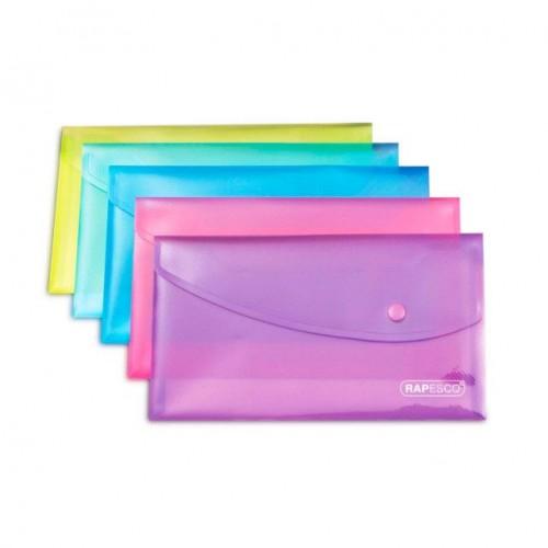 Popper Wallet DL Pastel Ast Pk5