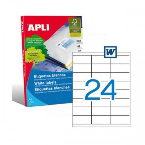Apli Laser/Copier Labels 24up Bx100