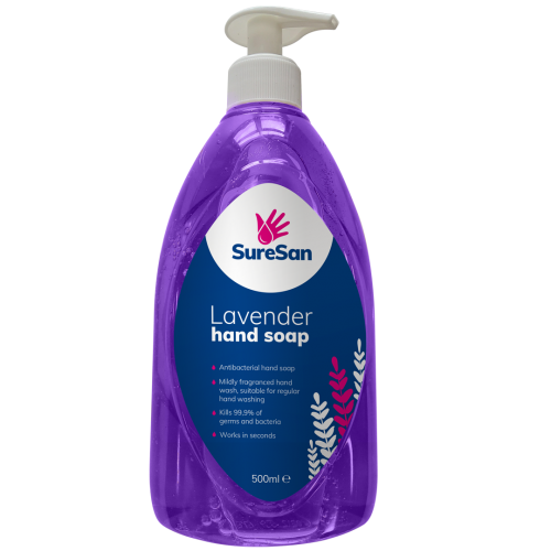 SureSan Antibacterial Liquid Lavender Soap 500ml