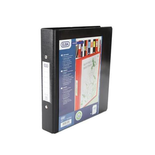 5 Small A5 Presentation Display Binder Folders 25mm Black 2 Ring File by 5 Star Office, PRM1577