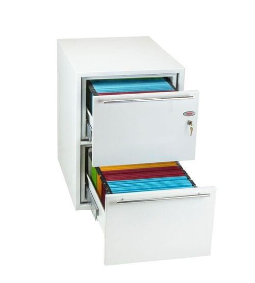 Phoenix Archivo Fire File FS2232K 2 Drawer Filing Cabinet with Key Lock