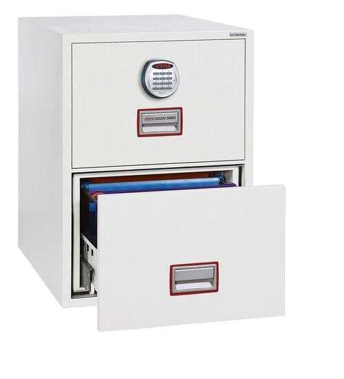 Phoenix World Class Vertical Fire File FS2252E 2 Drawer Filing Cabinet with Electronic Lock