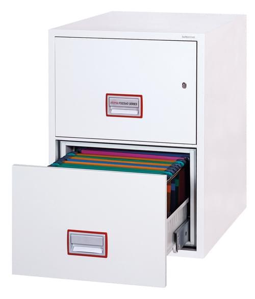Phoenix World Class Vertical Fire File FS2262K 2 Drawer Filing Cabinet with Key Lock by Phoenix, PSFS2262K