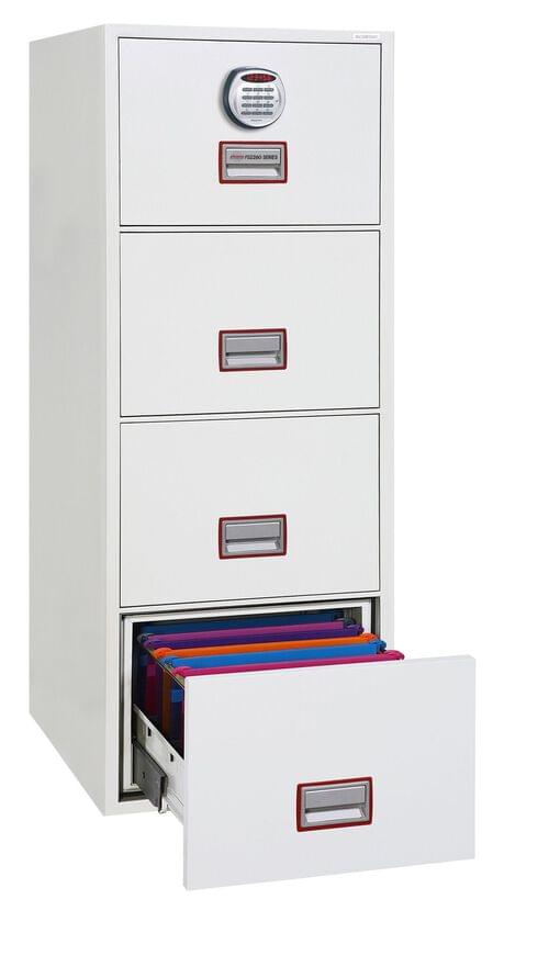Phoenix World Class Vertical Fire File FS2264E 4 Drawer Filing Cabinet with Electronic Lock by Phoenix, PSFS2264E