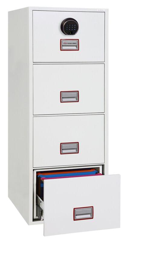 Phoenix World Class Vertical Fire File FS2264F 4 Drawer Filing Cabinet with Fingerprint Lock