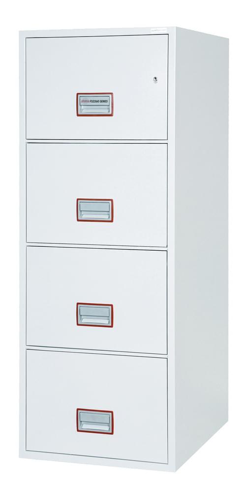 Phoenix World Class Vertical Fire File FS2264K 4 Drawer Filing Cabinet with Key Lock by Phoenix, PSFS2264K