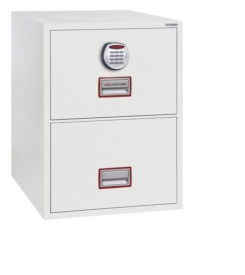 Phoenix World Class Vertical Fire File FS2272E 2 Drawer Filing Cabinet with Electronic Lock by Phoenix, PSFS2272E