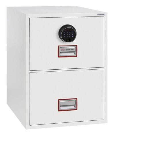 Phoenix World Class Vertical Fire File FS2272F 2 Drawer Filing Cabinet with Fingerprint Lock by Phoenix, PSFS2272F
