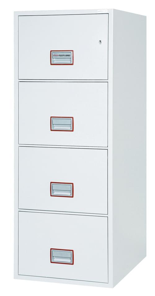 Phoenix World Class Vertical Fire File FS2274K 4 Drawer Filing Cabinet with Key Lock by Phoenix, PSFS2274K