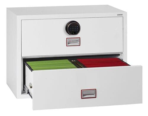 Phoenix World Class Lateral Fire File FS2414F 4 Drawer Filing Cabinet with Fingerprint Lock by Phoenix, PSFS2412F