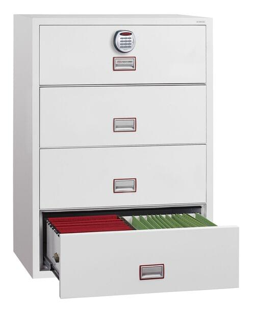 Phoenix World Class Lateral Fire File FS2414E 4 Drawer Filing Cabinet with Electronic Lock by Phoenix, PSFS2414E