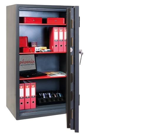 Phoenix Mercury HS2055K Size 5 High Security Euro Grade 2 Safe with Key Lock by Phoenix, PSHS2055K