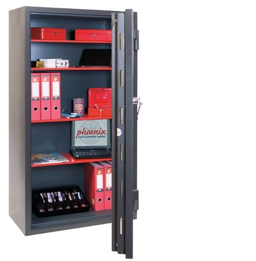 Phoenix Mercury HS2056K Size 6 High Security Euro Grade 2 Safe with Key Lock by Phoenix, PSHS2056K