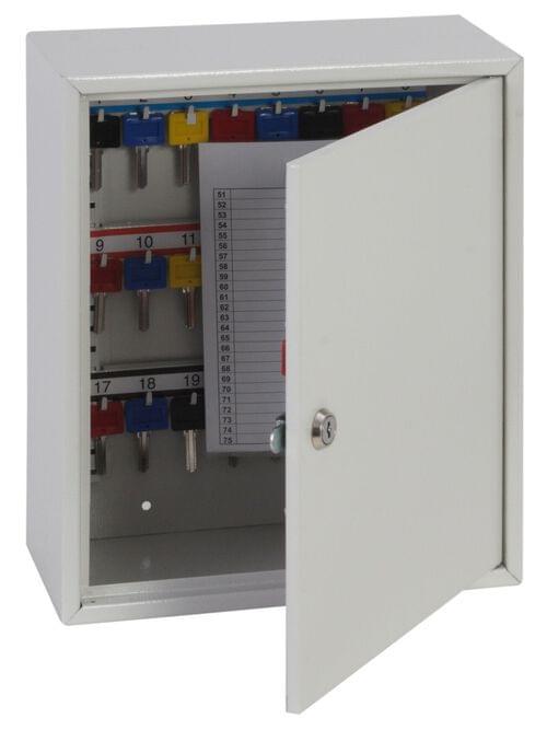 Phoenix Deep Plus & Padlock Key Cabinet KC0501K 24 Hook with Key Lock by Phoenix, PSKC0501K