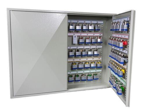 Phoenix Deep Plus & Padlock Key Cabinet KC0503K 50 Hook with Key Lock by Phoenix, PSKC0503K