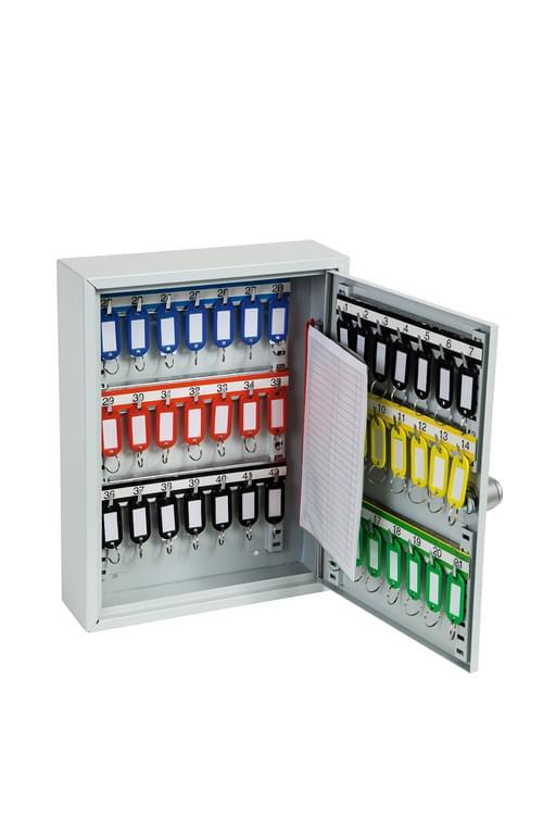 Phoenix Commercial Key Cabinet KC0601S 42 Hook with Electronic Lock & Push Shut Latch. by Phoenix, PSKC0601S