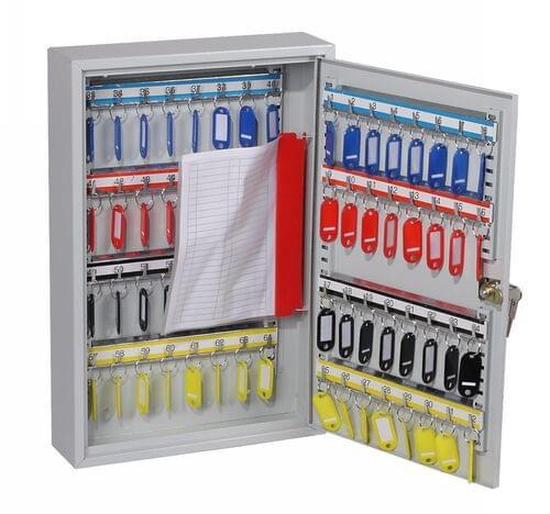 Phoenix Commercial Key Cabinet KC0602K 64 Hook with Key Lock. by Phoenix, PSKC0602K