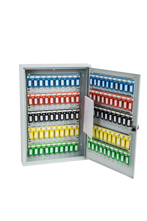 Phoenix Commercial Key Cabinet KC0603E 100 Hook with Electronic Lock. by Phoenix, PSKC0603E