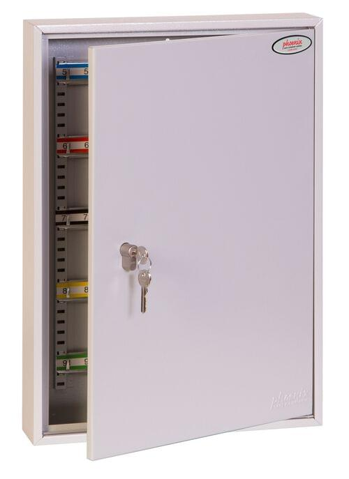 Phoenix Commercial Key Cabinet KC0603P 100 Hook with Key Lock. by Phoenix, PSKC0603P