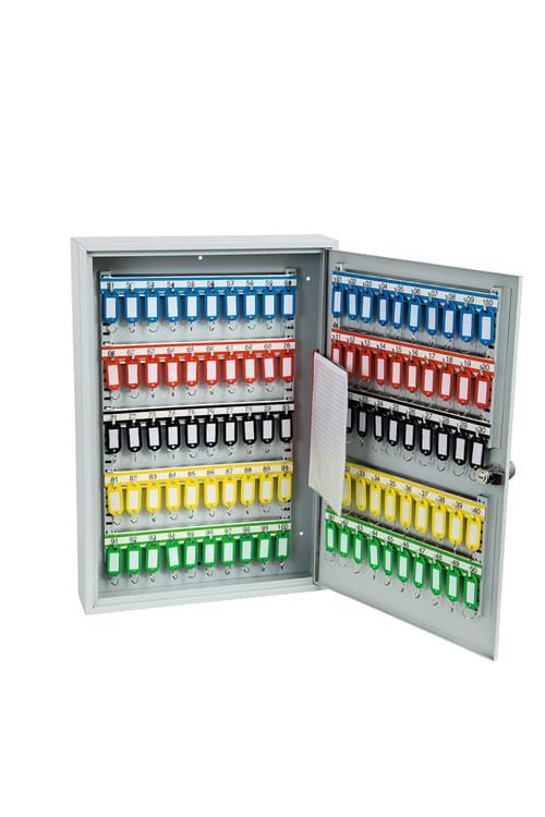 Phoenix Commercial Key Cabinet KC0603S 100 Hook with Electronic Lock & Push Shut Latch. by Phoenix, PSKC0603S
