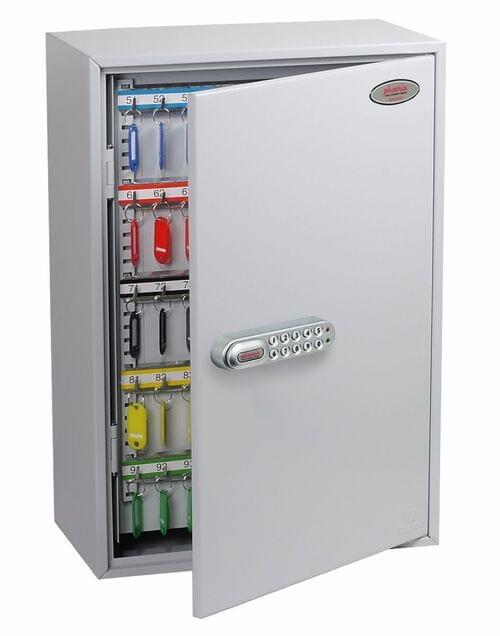Phoenix Commercial Key Cabinet KC0604S 200 Hook with Electronic Lock & Push Shut Latch. by Phoenix, PSKC0604S