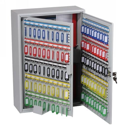 Phoenix Commercial Key Cabinet KC0605K 300 Hook with Key Lock. by Phoenix, PSKC0605K