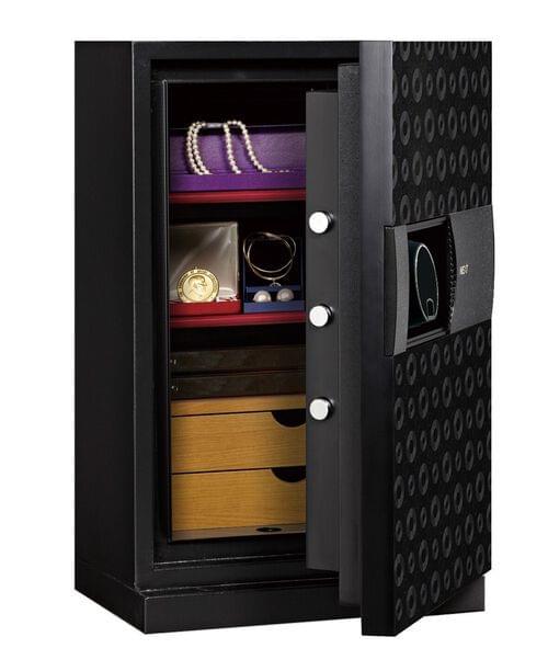 Phoenix Next LS7002FB Luxury Safe Size 2 (Black) with Fingerprint Lock