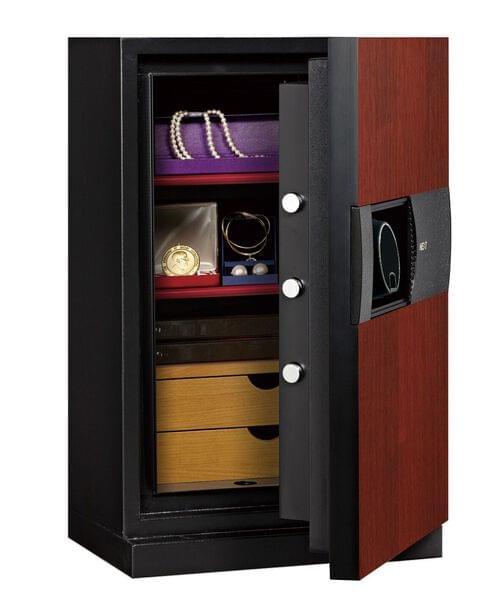 Phoenix Next LS7002FC Luxury Safe Size 2 (Cherry) with Fingerprint Lock by Phoenix, PSLS7002FC
