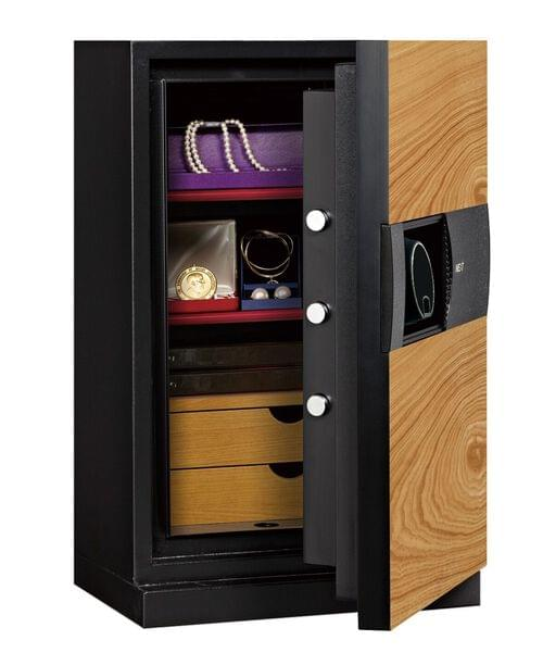 Phoenix Next LS7002FO Luxury Safe Size 2 (Oak) with Fingerprint Lock by Phoenix, PSLS7002FO
