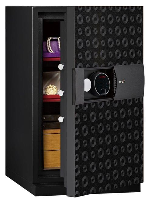 Phoenix Next LS7003FB Luxury Safe Size 3 (Black) with Fingerprint Lock