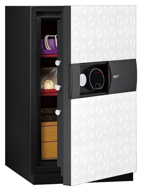 Phoenix Next LS7003FW Luxury Safe Size 3 (White) with Fingerprint Lock by Phoenix, PSLS7003FW