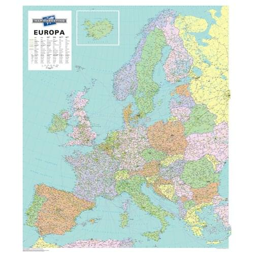MM Western Europe Framed by Office Star Group, MAP122