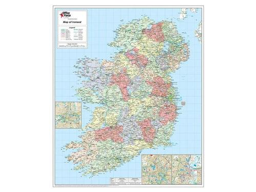 mm Framed Map Of Ireland by Office Star Group, MAP014