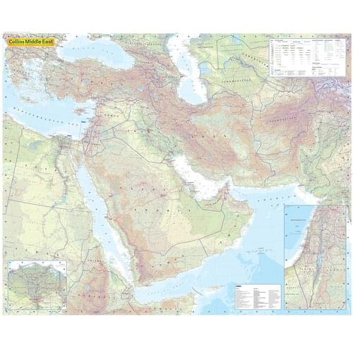 Middle East Political Map Laminated Me by Office Star Group, MAP019