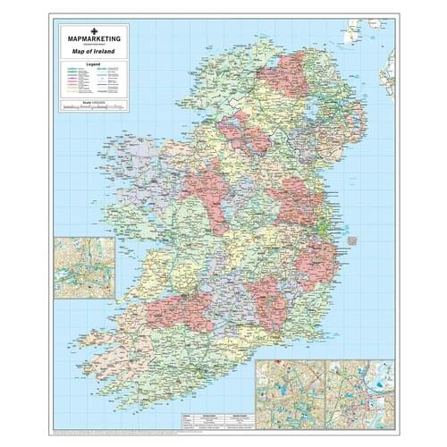 Road Map Of Ireland Unframed Ire by Office Star Group, MAP032