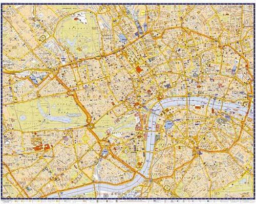 Lon-Ss A-Z Wall Map Of London by Office Star Group, MAP131