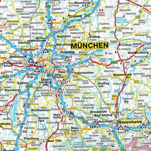 Germany Political Large Wall Route Planning Road Map Laminated for Business by Office Star Group, MAP140