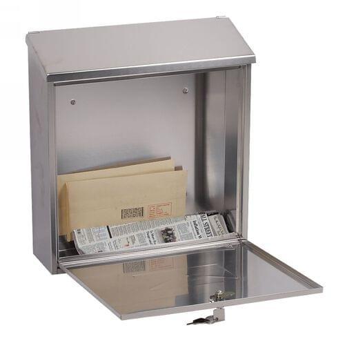 Phoenix Casa Front Loading Mail Box MB0111KS in Stainless Steel with Key Lock by Phoenix, PSMB0111KS