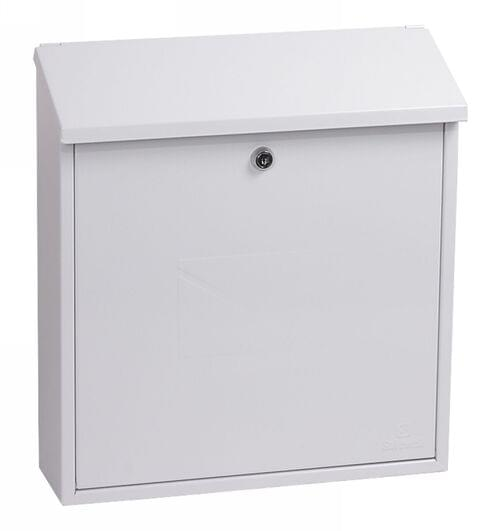 Phoenix Casa Top Loading Mail Box MB0111KW in White with Key Lock by Phoenix, PSMB0111KW