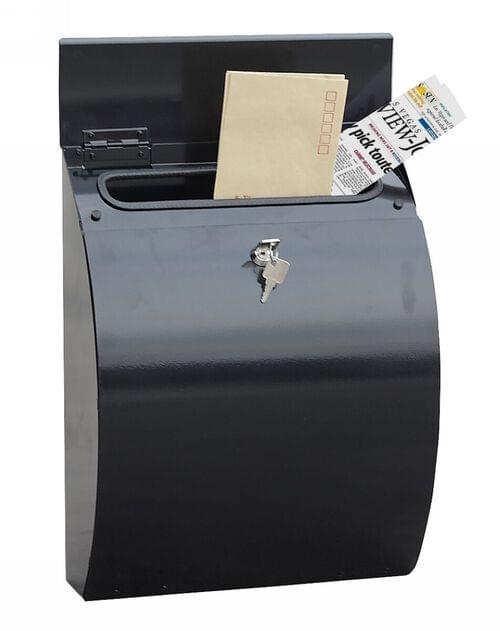 Phoenix Curvo Top Loading Mail Box MB0112KB in Black with Key Lock