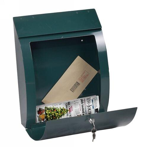Phoenix Curvo Top Loading Mail Box MB0112KG in Green with Key Lock by Phoenix, PSMB0112KG