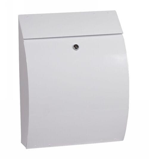 Phoenix Curvo Top Loading Mail Box MB0112KW in White with Key Lock by Phoenix, PSMB0112KW