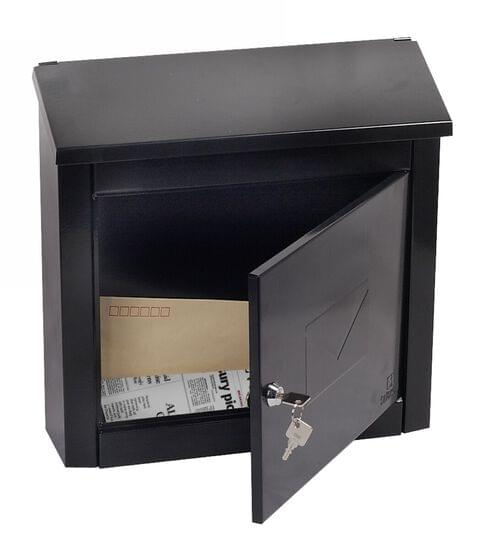 Phoenix Moda Top Loading Mail Box MB0113KB in Black with Key Lock