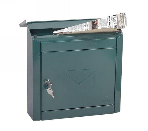 Phoenix Moda Top Loading Mail Box MB0113KG in Green with Key Lock by Phoenix, PSMB0113KG