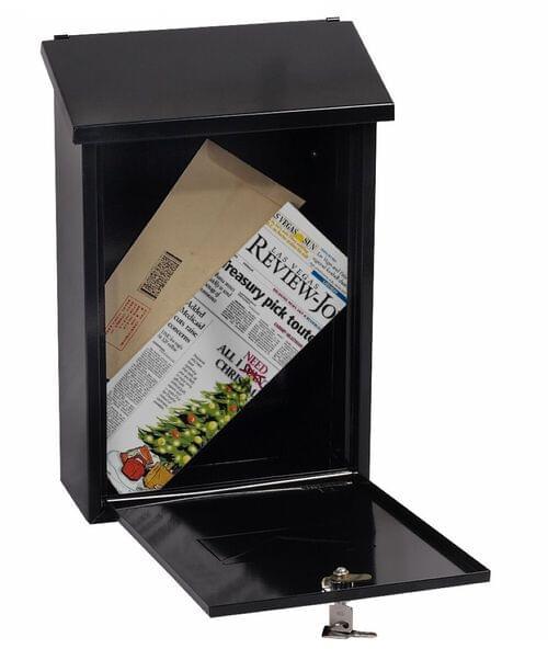 Phoenix Villa Top Loading Mail Box MB0114KB in Black with Key Lock