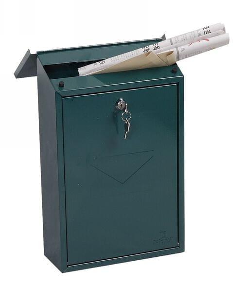 Phoenix Villa Top Loading Mail Box MB0114KG in Green with Key Lock