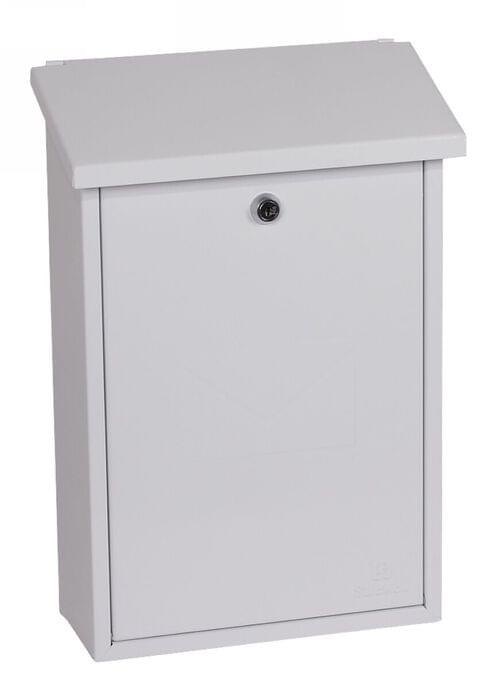 Phoenix Villa Top Loading Mail Box MB0114KW in White with Key Lock by Phoenix, PSMB0114KW